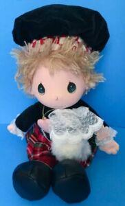 Vtg Applause Precious Moments Eric Doll Scottish Plush Kilt Stuffed Toy Cloth