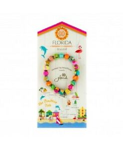 NEW JILZARA Handmade Clay Beads FLORIDA MULTI COLOR DAHLI 8mm Bracelet