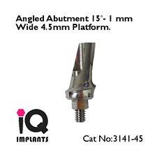 Angled Abutment 15º - 1mm 4.5mm Platform Dental Implants Implant Prosthetics Lab