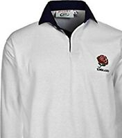 ENGLAND RUGBY SHIRT RETRO CLASSIC BRAND NEW ENGLISH ALL SIZE S - 5XL WHITE  NAVY