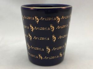 PHOENIX ARIZONA USA COBALT BLUE SHOT GLASS SHOTGLASS