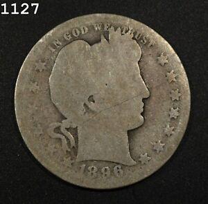 1896-O Barber Quarter *Free S/H After 1st Item*