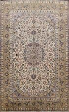 Antique Floral Najafabad Hand-Knotted Area Rug Traditional IVORY/GREEN 10'x14'