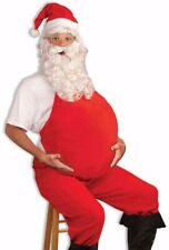 Red Santa Belly Christmas Costume Funny Humorous Beer Pregnant Fat Body Suit