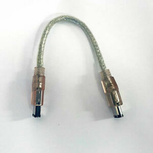 FireWire 400 6 Pin to 6 Pin 8 Inch Cable Clear NEW