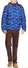 TRU Trussardi men's quilted blue print jacket size XL* - Removable Hood