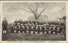 Newport RI Blue Jacket Guard Naval Training Station c1915 Postcard