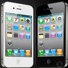 APPLE IPHONE 4 BIANCO/NERO 16GB ORIGINALE + ACCESSORI + 3 MESI GARANZIA GRADO A