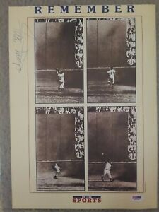 Autographed Willie Mays Poster 11x14 PSA/DNA Certified