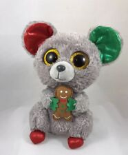 """TY Beanie Babies Mac Mouse Stuffed Collectible Plush Toy 9"""" Christmas Mouse"""