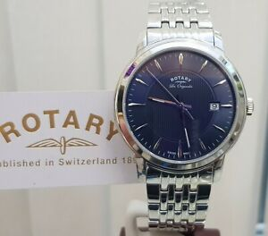 Rotary SWISS MADE Les Originales Mens watch Blue ,Sapphire RRP £250 GREAT GIFT