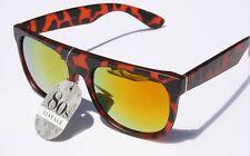 80's Vintage Flat Top Sunglasses Matte Tortoise FIRE