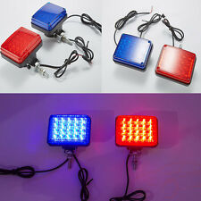 2LED Strobe Car Hazard Warn Dash Police Light Flash Emergency Traffic Red Blue