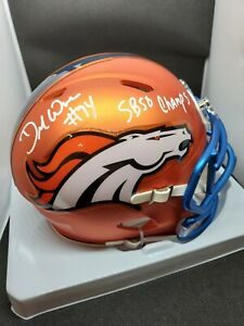 DEMARCUS WARE Denver Broncos signed BLAZE mini helmet SB 50 Champs Beckett COA