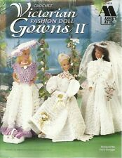 "Victorian Fashion Doll Gowns #2 Crochet Patterns Dresses for Barbie 11 1/2"" NEW"