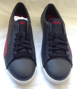 Diesel Black Leather Trainers. Size 8UK.