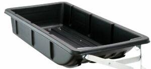 "Moose Utility Black 26"" x 56"" x 9.5"" Molded Ribbed Plastic ATV Cargo Sled Tub"