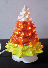Vintage Style New Halloween Small Doc Holiday Candy Corn Ceramic Tree