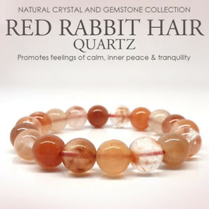 Rare Red Rabbit Hair Quartz. Natural Crystal Gemstone with Certificate of Authen