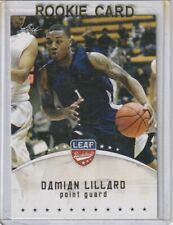DAMIAN LILLARD BLAZERS 2012-13 Leaf Basketball RC # DL1 Red Hot Rookie Card!