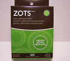 ZOTS 300 Medium Clear Adhesive Dots  Great for Metal, Paper, Plastic and More!