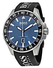 Hugo Boss - Men's Deep Ocean Blue Dial Black Silicone Strap Watch - 1513232