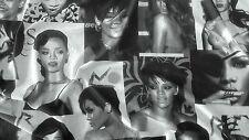 Rihanna Print  Poly Lycra Fabric/Material    FREE UK P&P