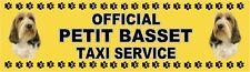 PETIT BASSET GRIFFON VENDEEN OFFICIAL TAXI SERVICE Dog Car Sticker  By Starprint