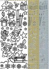Pickup Outline Stickers Auto-collant Noël Ski Luge cadeau Christmas 180