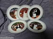5 GUY BUFFET L' ETALAGE ( THE SHOPKEEPERS ) COLLECTION DESSERT PLATES BREAD