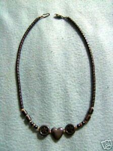 Kette Hämatit Herz Sterne 46,5 cm TOP Halskette