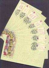 Australia 1999 TIWI ART FRAMAS Capital City Pmks Set FU on 7 First Day Covers