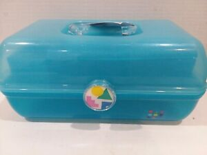 Caboodle Rare Blue Sparkle On The Go Girl Classic Cosmetic Makeup Travel Case