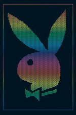 (LAMINATED) PLAYBOY RAINBOW BUNNY POSTER (61x91cm)  PICTURE PRINT NEW ART