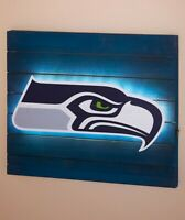 Seattle Seahawks NFL LED Light Wood Pallet Wall Art Plaque Sign Football Decor
