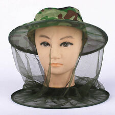 Outdoor Mosquito Resistance Bug Net Mesh Head Face Protector Cap Sun Hat Cap New