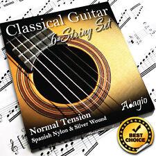 Classical Guitar Strings Pack By Adagio - Highest Quality Full Nylon String Set