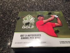 2012 Upper Deck SP Authentic Golf Hobby box 3 autos