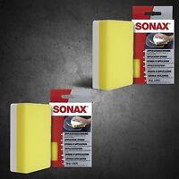 2x SONAX ApplikationsSchwamm Universalschwamm Polierschwamm 417300