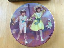 1985 LIMOGES TURGOT Patinage au Trocadero B. Peltiaux COLLECTOR PLATE Numbered