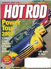 Hot Rod Magazine Oct 2003 World's Best V-8s: US vs Japan vs Europe