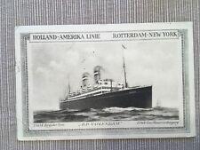 Vintage Postcard Holland-America  D.D. Volendam Half Pence Stamp Posted 1924