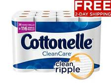 Cottonelle Cleancare Family Roll Toilet Paper Bath Tissue 36 Rolls Bathroom Soft