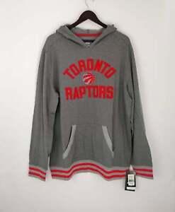 Fanatics Men's Toronto Raptors Light weight Pullover Hoodie Gray New Size XL