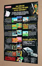 Nintendo Game Boy SNES German Ad Page Flyer Super Mario Yoshi Kirby's Dream Land