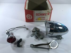 Schwinn Deluxe Generator Set Bike Parts Bicycle Headlight lamp Tail Box