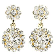 NWT Amrita Singh Gold Crystal Agatha Statement Earrings ERC 2603