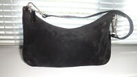 RUSSELL AND BROMLEY SMALL SHOULDER BLACK SUEDE & LEATHER BAG