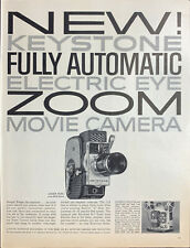 Vintage 1960 Keystone Electric Eye Zoom Movie Camera Print Ad Advertisement