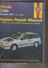 Honda Civic 1984 Thru 1991: All Models Haynes Repair Manual 42023